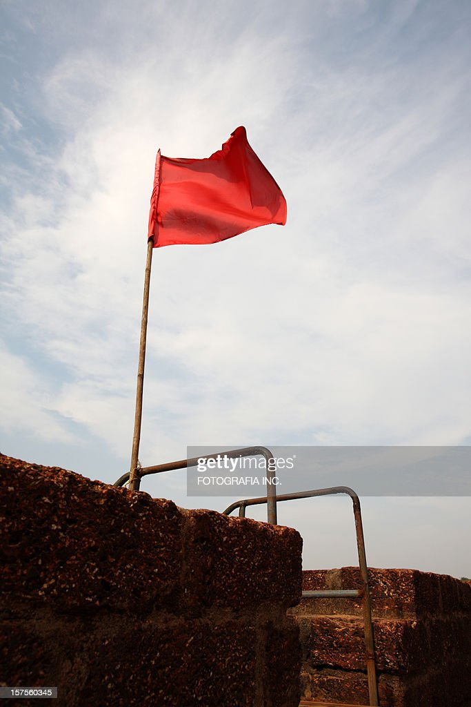 Flag on the fort : Stock Photo
