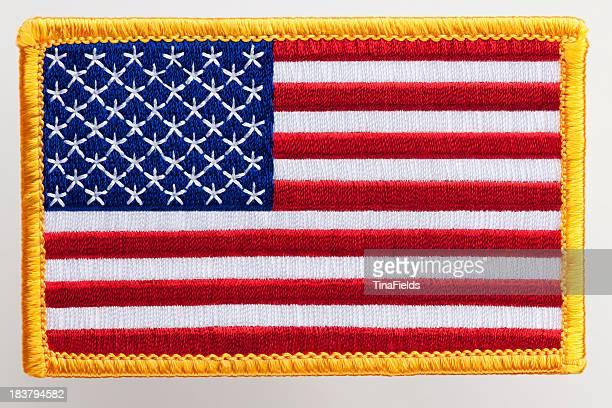 アメリカ国旗のパッチ。