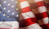 American flag background for edit your design.