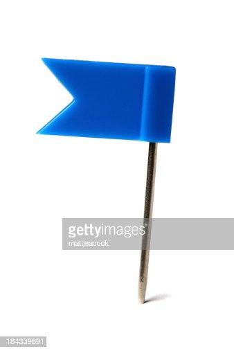 Flag pin on white