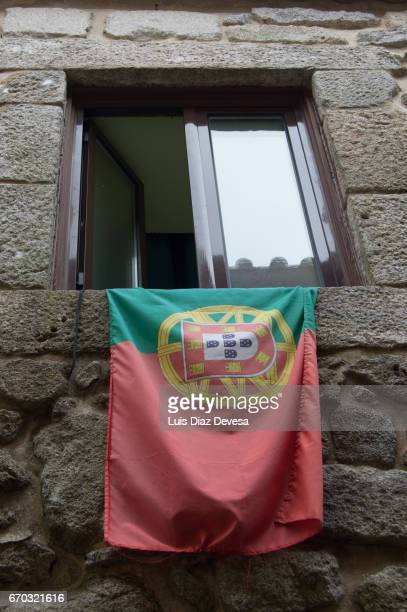 Flag Portugal in the window