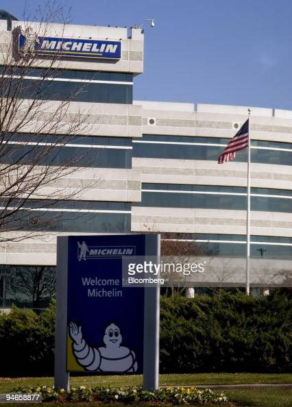 A flag waves in the breeze outside the Michelin North American headquarters in Greenville South Carolina US on Thursday Nov 29 2007 South Carolina...