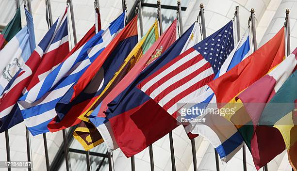 US Flag with International Flags XXL