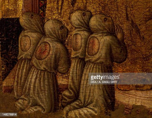Flagellants detail from Sant'Eleuterio by the Master of Staffolo tempera on panel 55x37 cm Naples Museo Nazionale Di Capodimonte