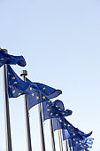 Flags Flying Outside European Commission Building