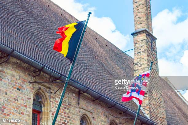 Flags of Bruges and Belgium