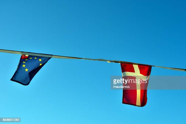 flags of Europe and Denmark