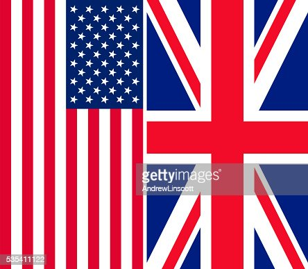 Flags of the USA and UK