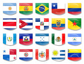 flags from latin america countries