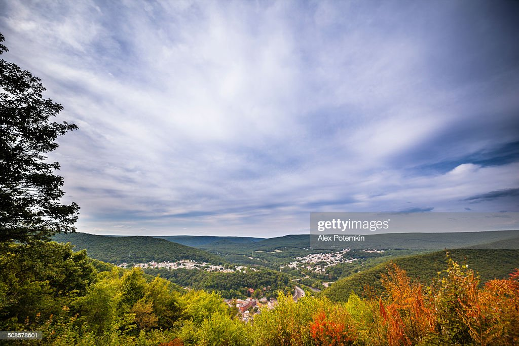 Flagstaff Mountain Park, Carbon County, Pennsylvania : Foto stock