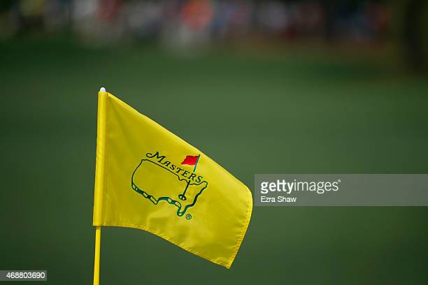 A flagstick is seen during a practice round prior to the start of the 2015 Masters Tournament at Augusta National Golf Club on April 7 2015 in...