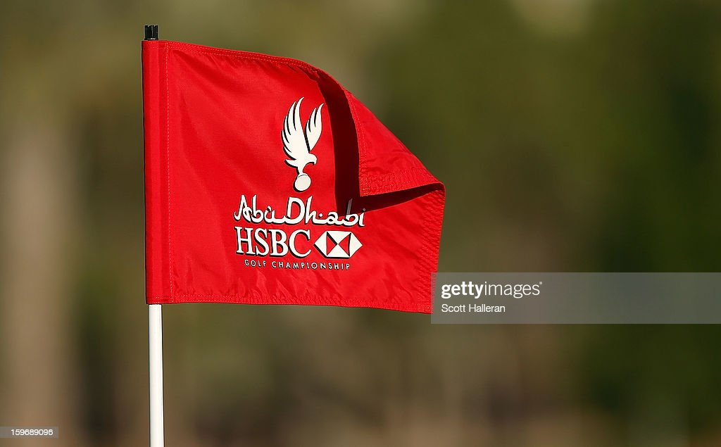 A flagstick is seen during the second round of the Abu Dhabi HSBC Golf Championship at Abu Dhabi Golf Club on January 18, 2013 in Abu Dhabi, United Arab Emirates.