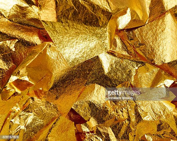 Flaky Gold Leaf Background