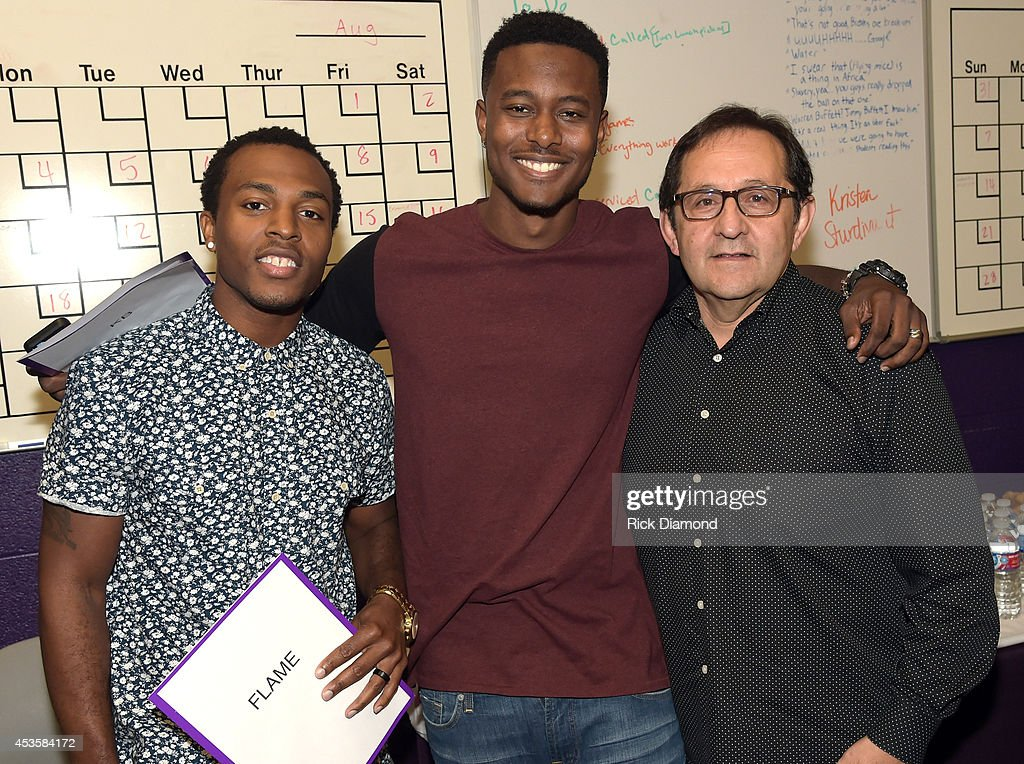 Flame, KB and Sam Chappell attend the nominees during the 45th Annual GMA Dove Awards Nominations Press Conference at Allen Arena on Lipscomb University campus, August 13, 2014 in Nashville, Tennessee.