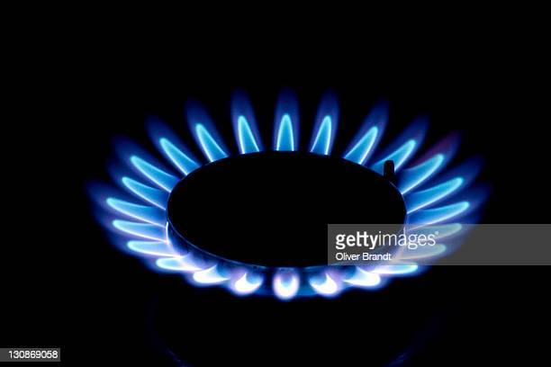 Flame on a gas stove