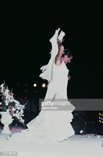A flamenco dance of the Spanish singer and dancer Lola Flores during a show Madrid Castilla La Mancha Spain
