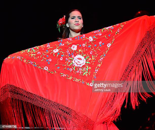 Flamenco Dancer dance before Spanish singer Rosario Flores performs onstage at The Fillmore Miami Beach at Jackie Gleason Theater on May 22 2015 in...