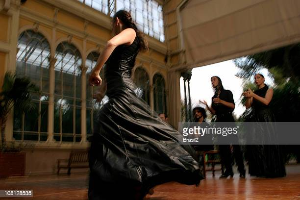 Danseuse de Flamenco de danse avec des personnes Taper dans les mains