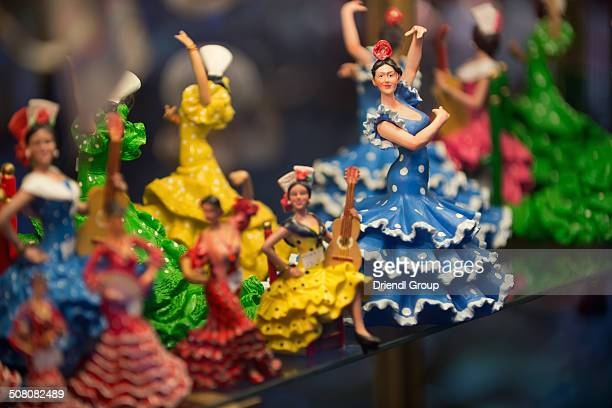 Flamenco Dancer figurines in a shop window.