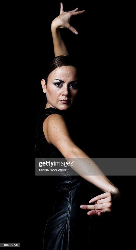 Flamenco Dancer, Low Key : Stock Photo
