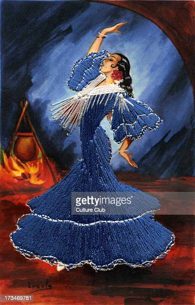 Flamenco dancer of Granada Spain