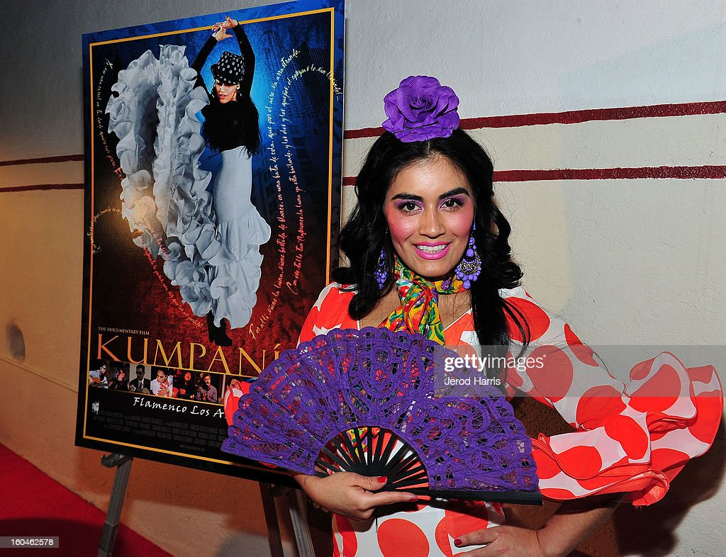 Flamenco dancer Paloma Rios arrives at the premiere of 'Kumpania: Flemenco Los Angeles' at El Cid on January 31, 2013 in Los Angeles, California.