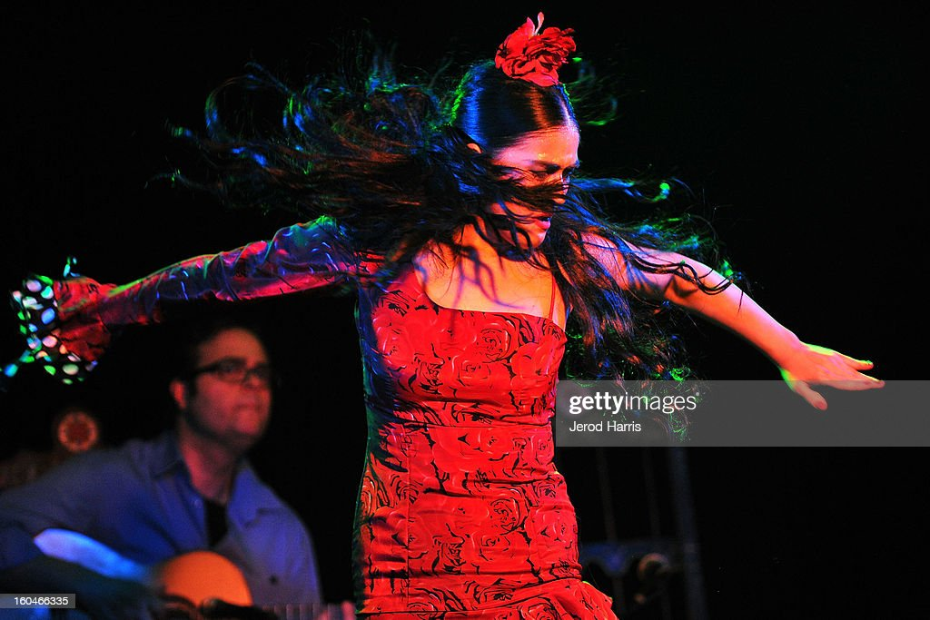 Flamenco dancer Paloma Rios performs at 'Kumpania: Flamenco Los Angeles' - Los Angeles Premiere after party at El Cid on January 31, 2013 in Los Angeles, California.