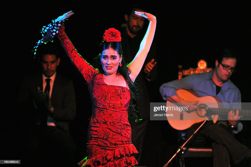 Flamenco dancer Paloma Rios performs at 'Kumpania: Flamenco Los Angeles' - Los Angeles Premiere after party at El Cid on January 31, 2013 in Los Angeles, California.