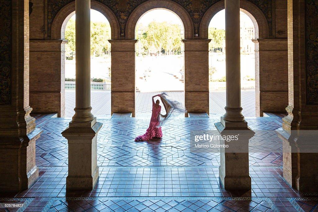 Flamenco dancer performing in Seville, Spain