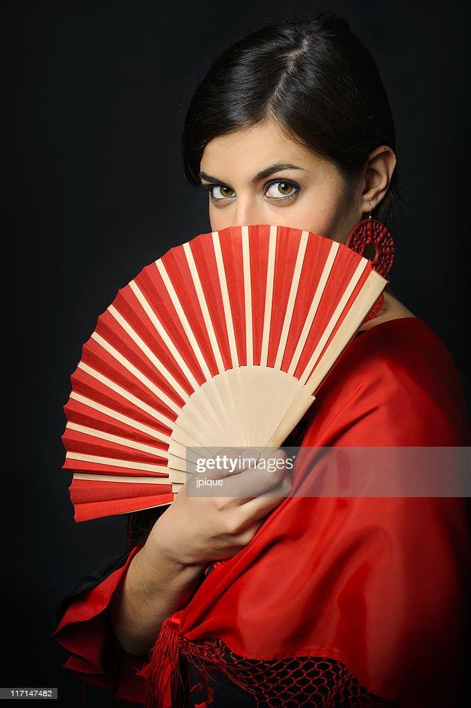 Flamenco dancer portrait : Stock Photo