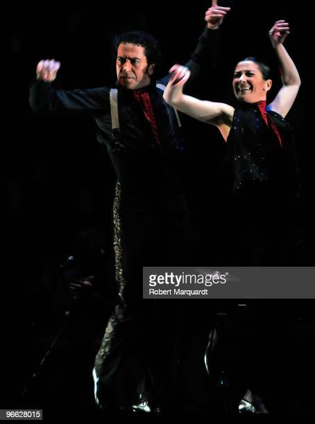 Flamenco dancer Sara Baras performs at the Forum L'Auditori for the XI Millennium Festival on February 12 2010 in Barcelona Spain