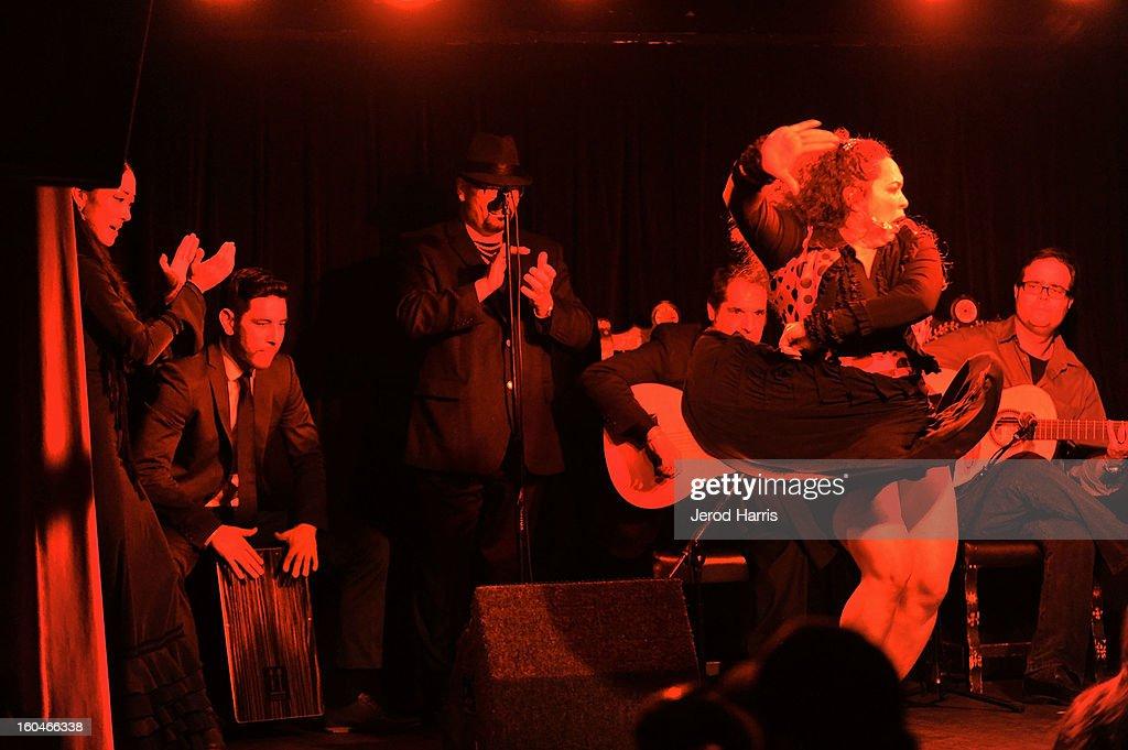 Flamenco dancer Vanessa Acosta Albalos performs at 'Kumpania: Flamenco Los Angeles' - Los Angeles Premiere after party at El Cid on January 31, 2013 in Los Angeles, California.