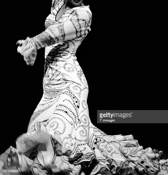 Flamenco dressed in white