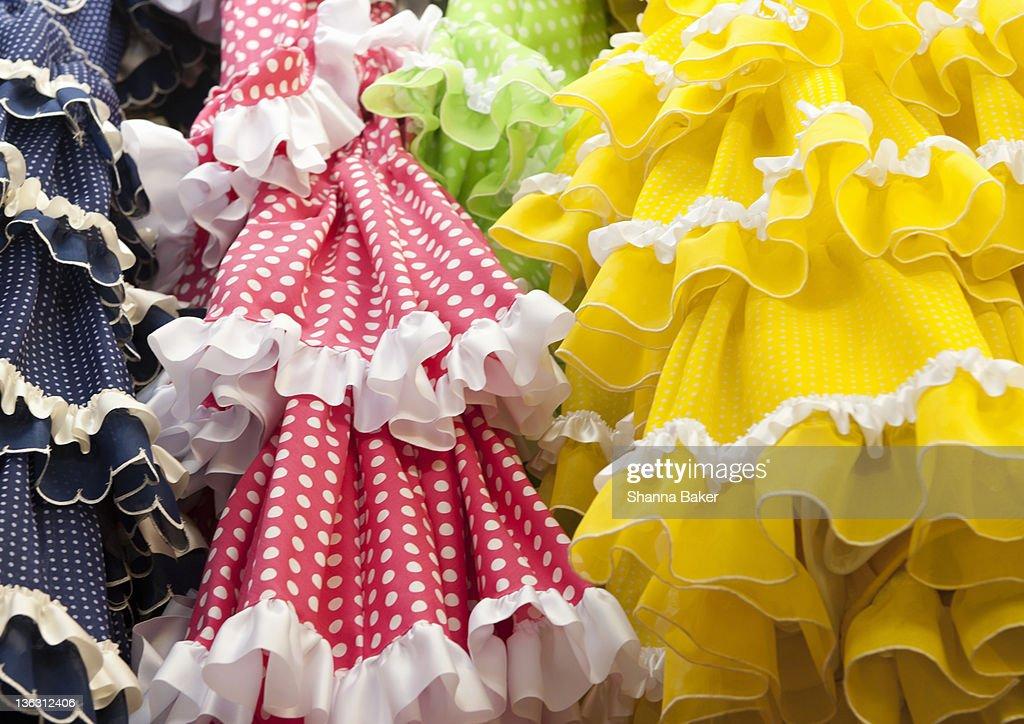 Flamenco dresses : Stock Photo
