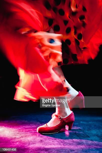 Flamenco feet dancing