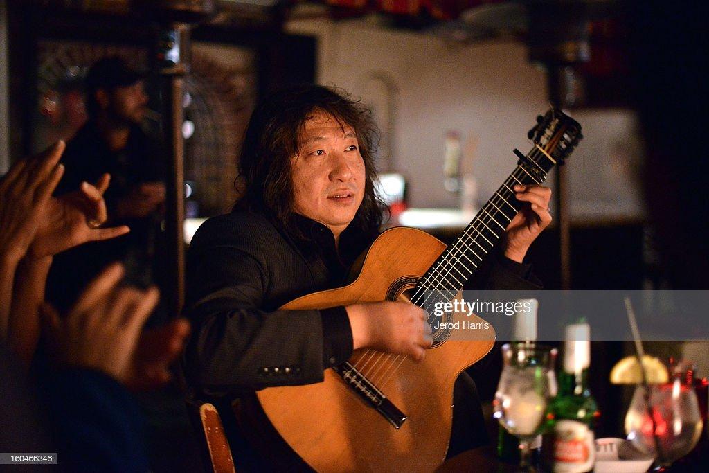 Flamenco guitarist Jose Tanaka performs at 'Kumpania: Flamenco Los Angeles' - Los Angeles Premiere after party at El Cid on January 31, 2013 in Los Angeles, California.