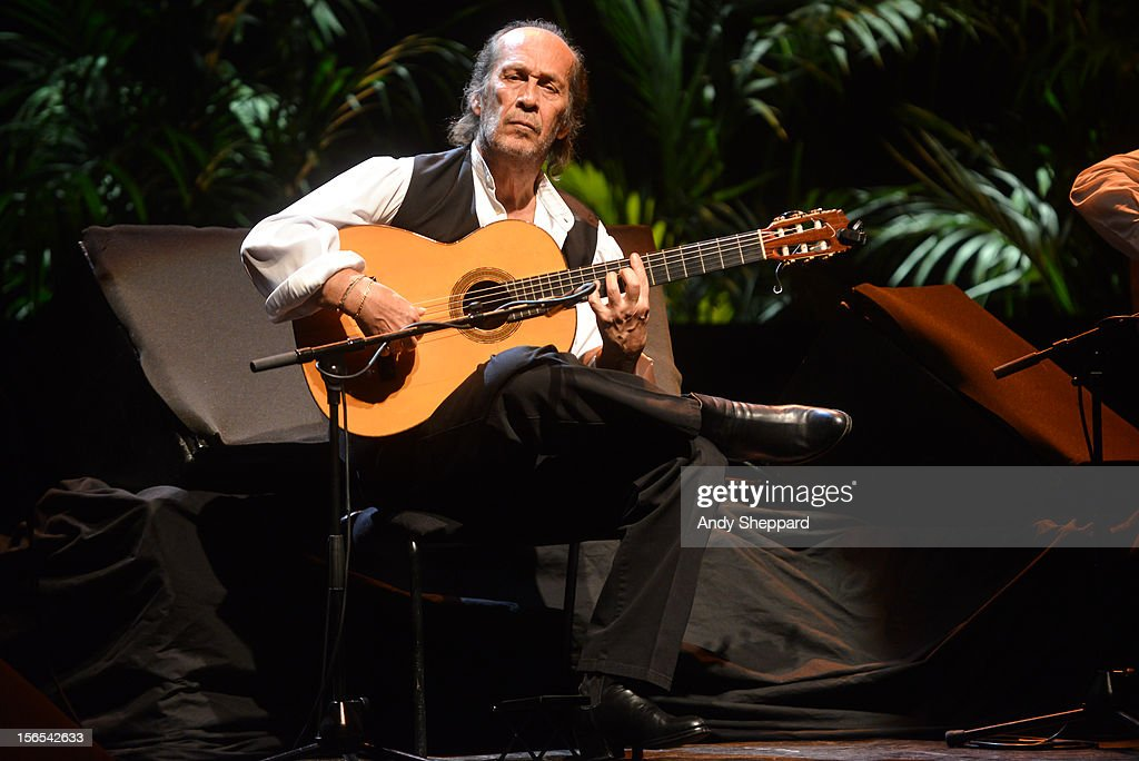 Flamenco guitarist Paco De Lucia performs on stage at Royal Festival Hall during the London Jazz Festival 2012 on November 16, 2012 in London, United Kingdom.