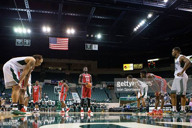 Flames F/C Clint Robinson at the foul line during the second half of the NCAA Men's Basketball game between the UIC Flames and Cleveland State...