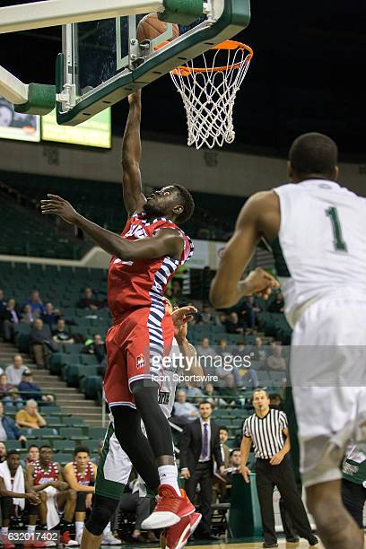 Flames F/C Clint Robinson scores with a layup during the second half of the NCAA Men's Basketball game between the UIC Flames and Cleveland State...