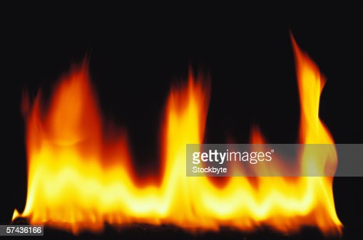 flames from a fire rising : Stock Photo
