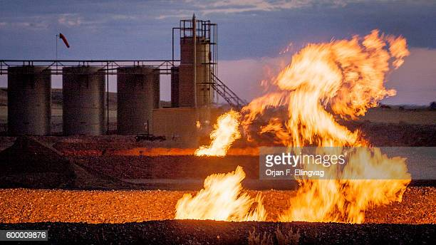 Flames from a flaring pit near a well in the Bakken Oil Field The primary component of natural gas is methane which is odorless when it comes...