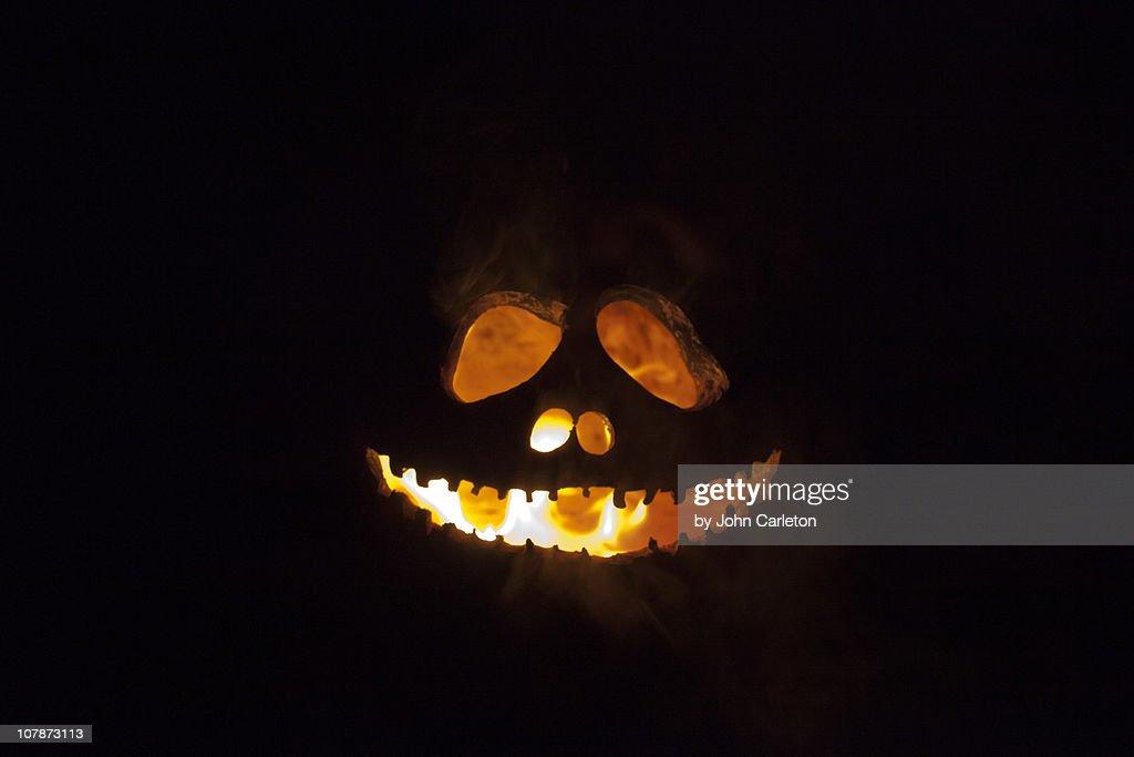 Flaming Jack-o-lantern face
