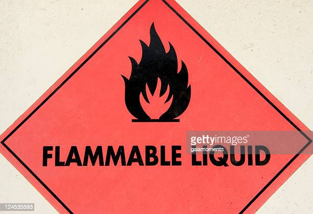 Flammable Liquid Warning Sign