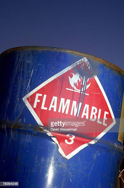 Flammable waste drum