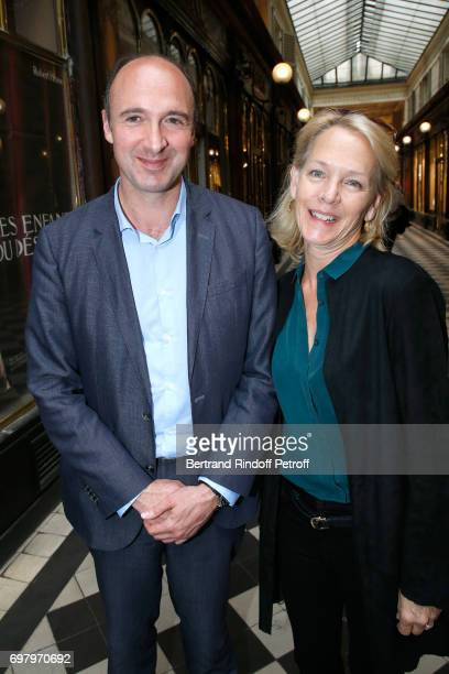 CEO Flammarion Gilles Haeri and Suzanne Isore attend Barbara de Nicolay signs her Book 'L'Esprit du Chateau de Lude' with the Eric Sander's 'Le Lude'...