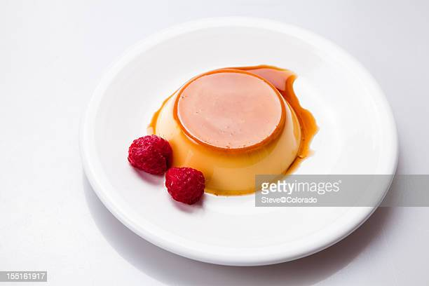 Flan with Raspberries