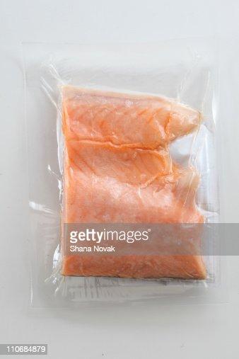 Flash Frozen Wild Salmon : Stock Photo