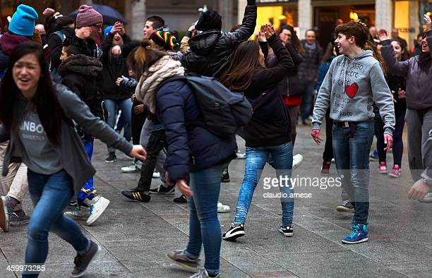 Flash Mob. Color Image