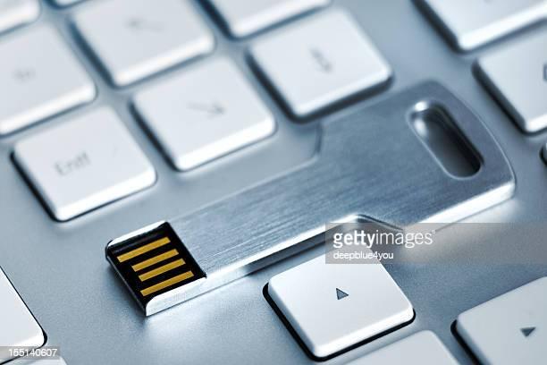 USB-flash-Aufbewahrung Metall-Taste auf der Tastatur