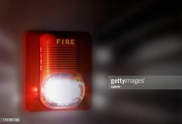 Alarme incendie clignotante
